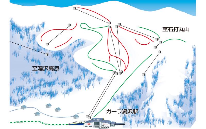 半日GALA湯沢スキー場 ゲレンデ地図