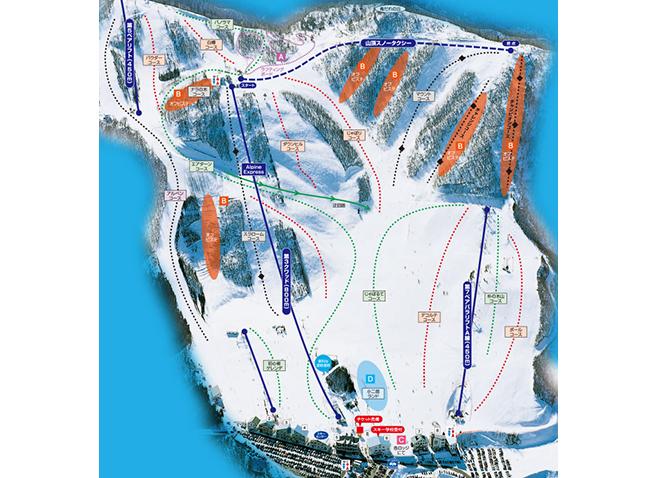 ほおのき平スキー場 ゲレンデ地図