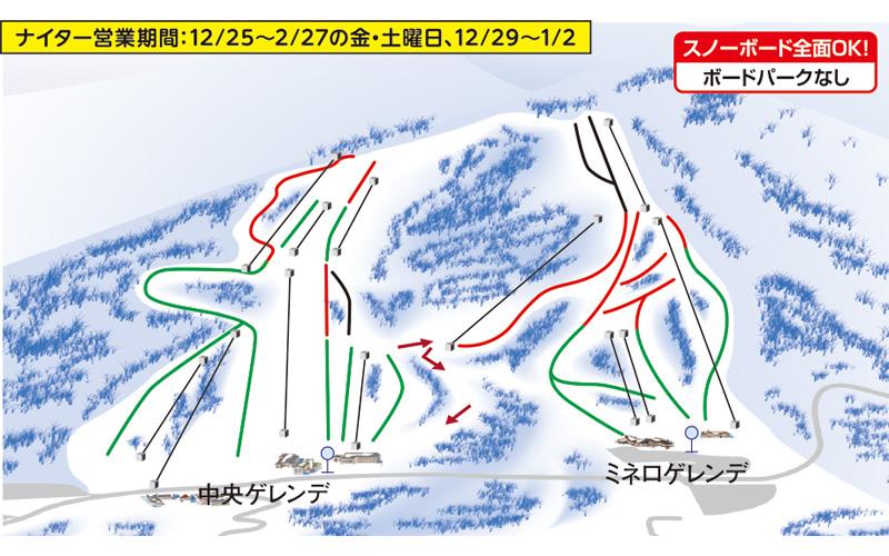 猪苗代スキー場 ゲレンデ地図