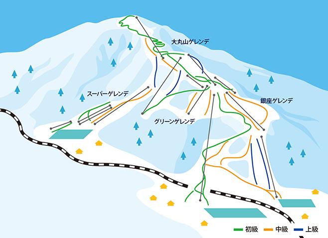 石打丸山スキー場 ゲレンデ地図