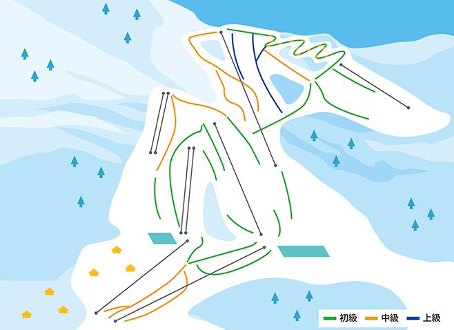 岩原スキー場 ゲレンデ地図