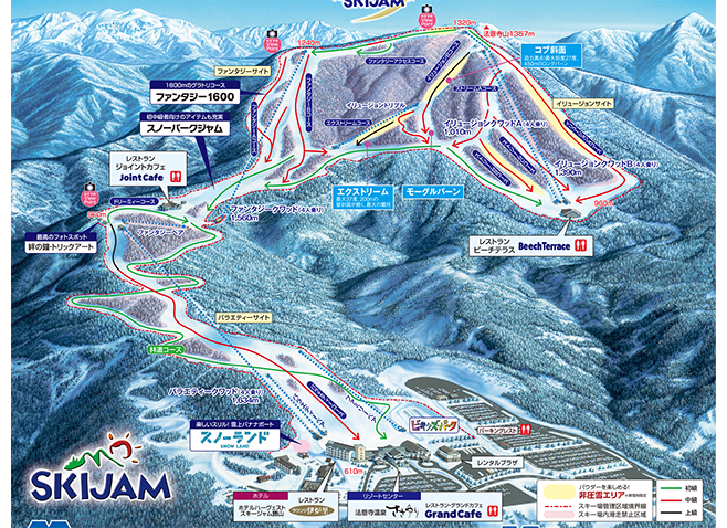 スキージャム勝山 ゲレンデ地図