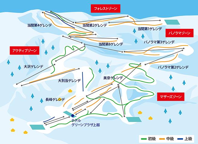 上越国際スキー場 ゲレンデ地図