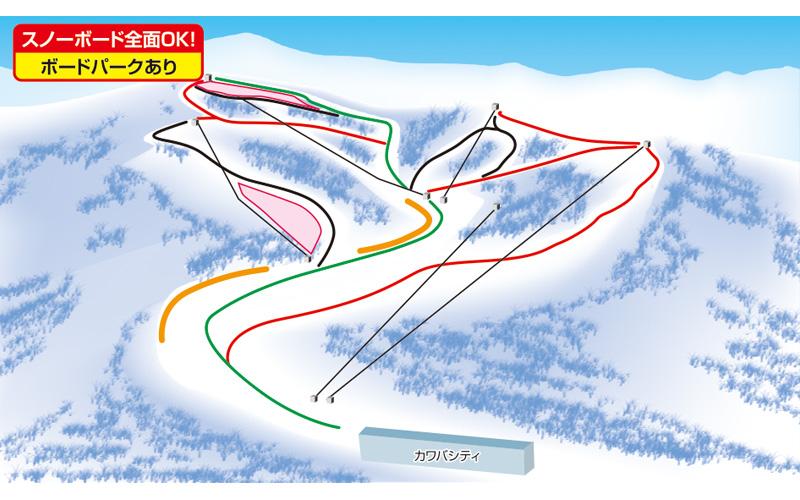 川場スキー場 ゲレンデ地図