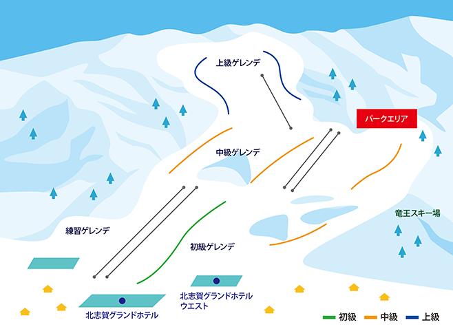 北志賀小丸山スキー場 ゲレンデ地図