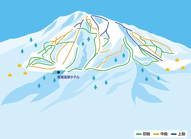 斑尾高原スキー場 ゲレンデ地図