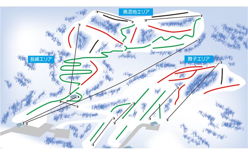 舞子スノーリゾート ゲレンデ地図