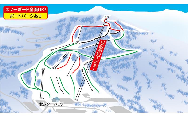 丸沼高原スキー場 ゲレンデ地図