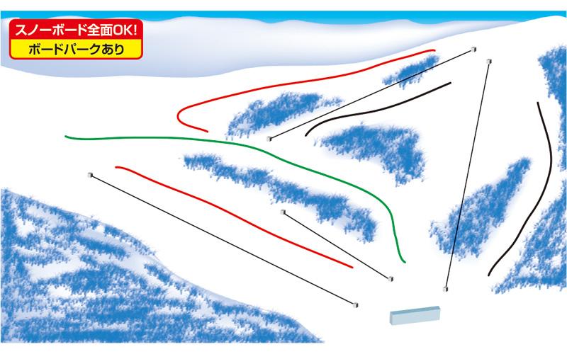 ノルン水上スキー場 ゲレンデ地図