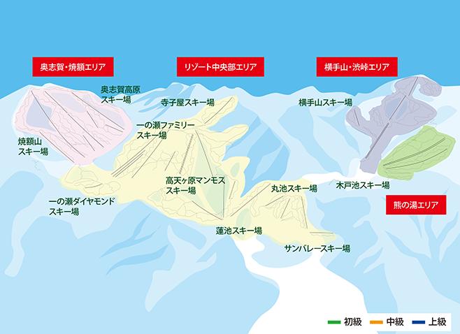 志賀高原スキー場 ゲレンデ地図
