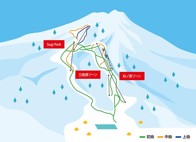 妙高杉ノ原スキー場 ゲレンデ地図
