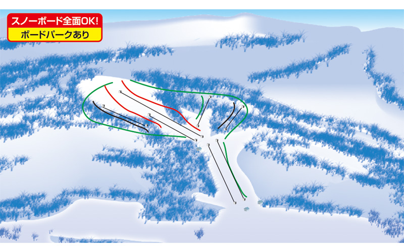 たんばらスキーパーク ゲレンデ地図