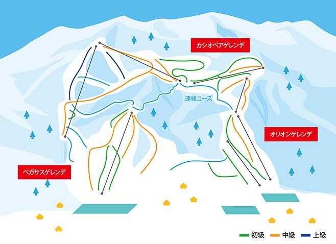 戸狩温泉スキー場 ゲレンデ地図