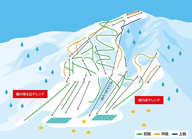 栂池高原スキー場 ゲレンデ地図