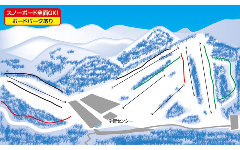 湯の丸スキー場 ゲレンデ地図