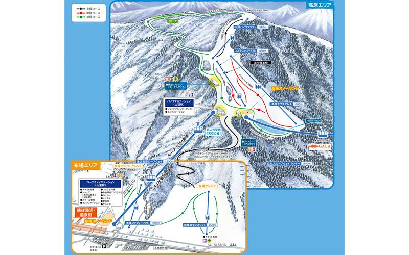 湯沢高原スキー場 ゲレンデ地図