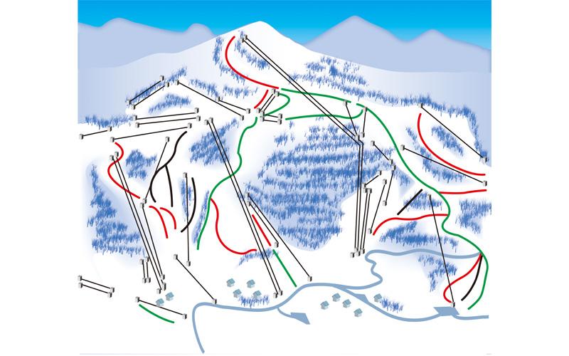 蔵王温泉スキー場 ゲレンデ地図