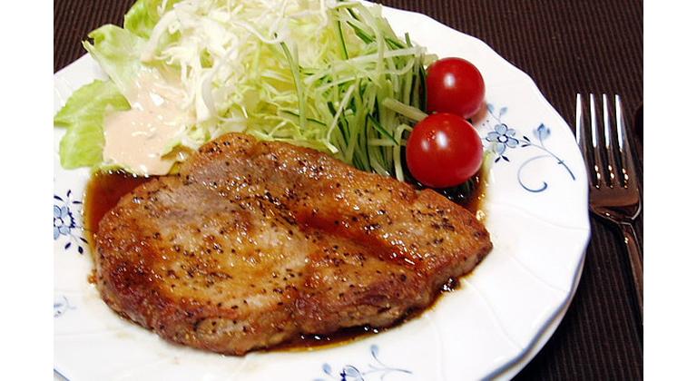 夕食追加メニュー(もち豚ポークソテー)