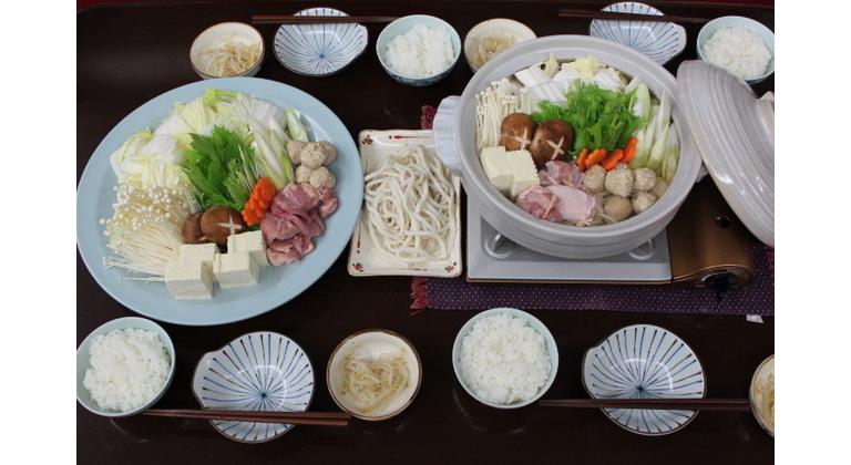 グレードアップ夕食の海鮮寄せ鍋一例