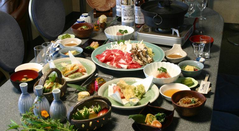 グレードアップの夕食一例