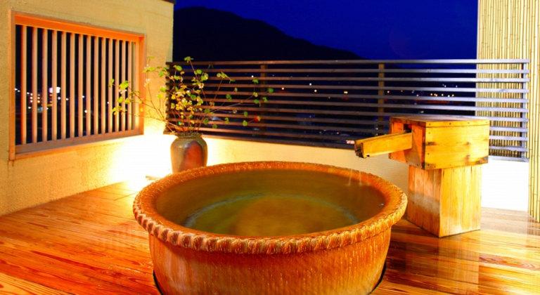 美湯の宿の貸し切り風呂一例