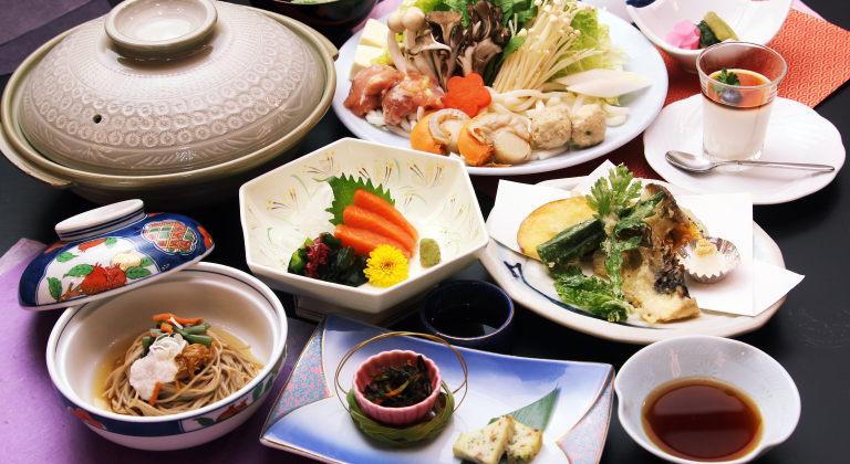 夕食一例(木戸池特製信州味噌鍋)