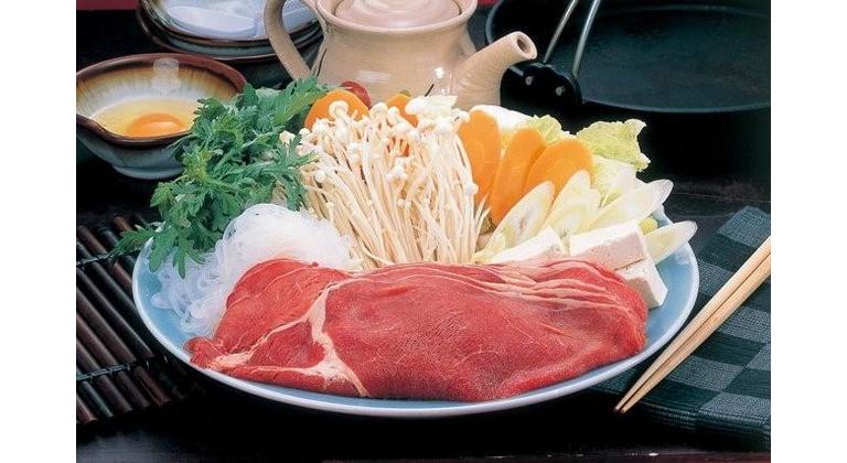 グレードアップ夕食のすき焼き鍋一例